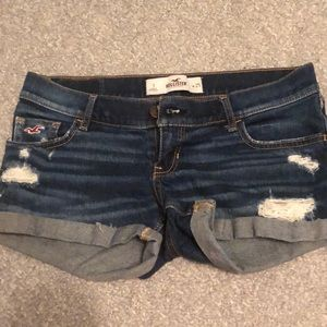 Hollister medium wash shorts